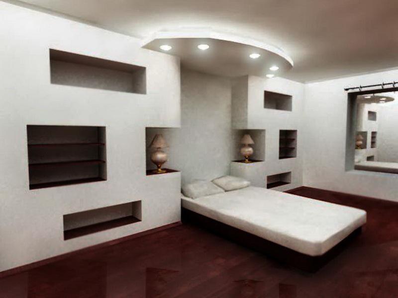 Гипсокартонный дизайн стен