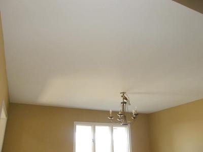 Побеленный мелом потолок