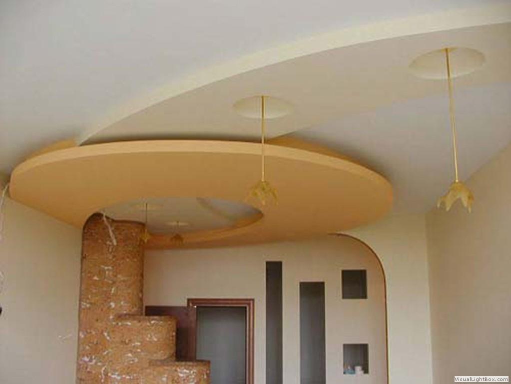 Многоуровневая конструкция из гипсокартона