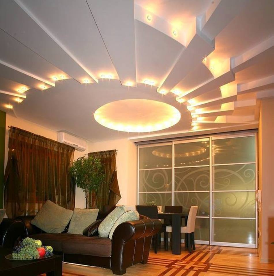 Подсветка и дизайн потолков в квартире-фото