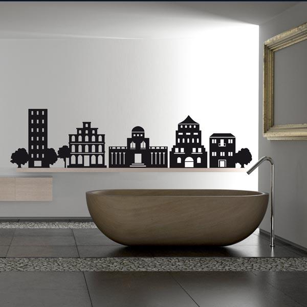 Черные наклейки для ванной