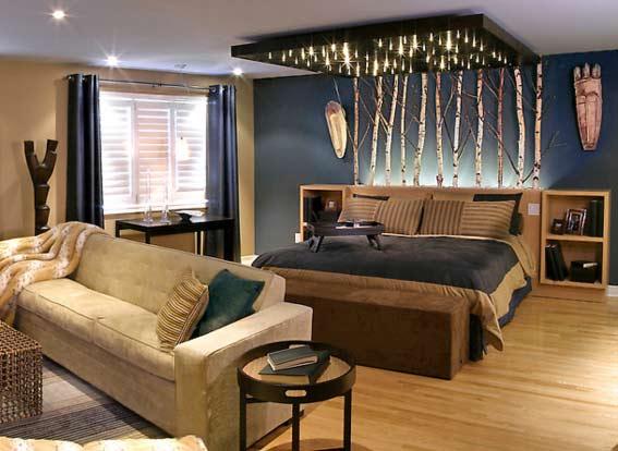 Оригинальный дизайн комнаты 18 кв. м.