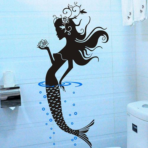 Красивая наклейка для ванной комнаты