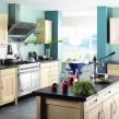 Окраска стен на кухне в оливковых тонах
