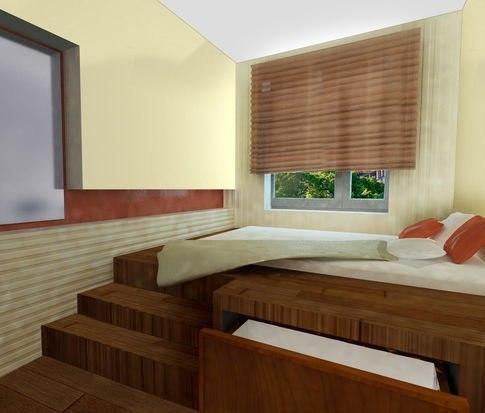 Подиум со спальным местом