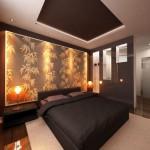 Красивое освещение в спальне