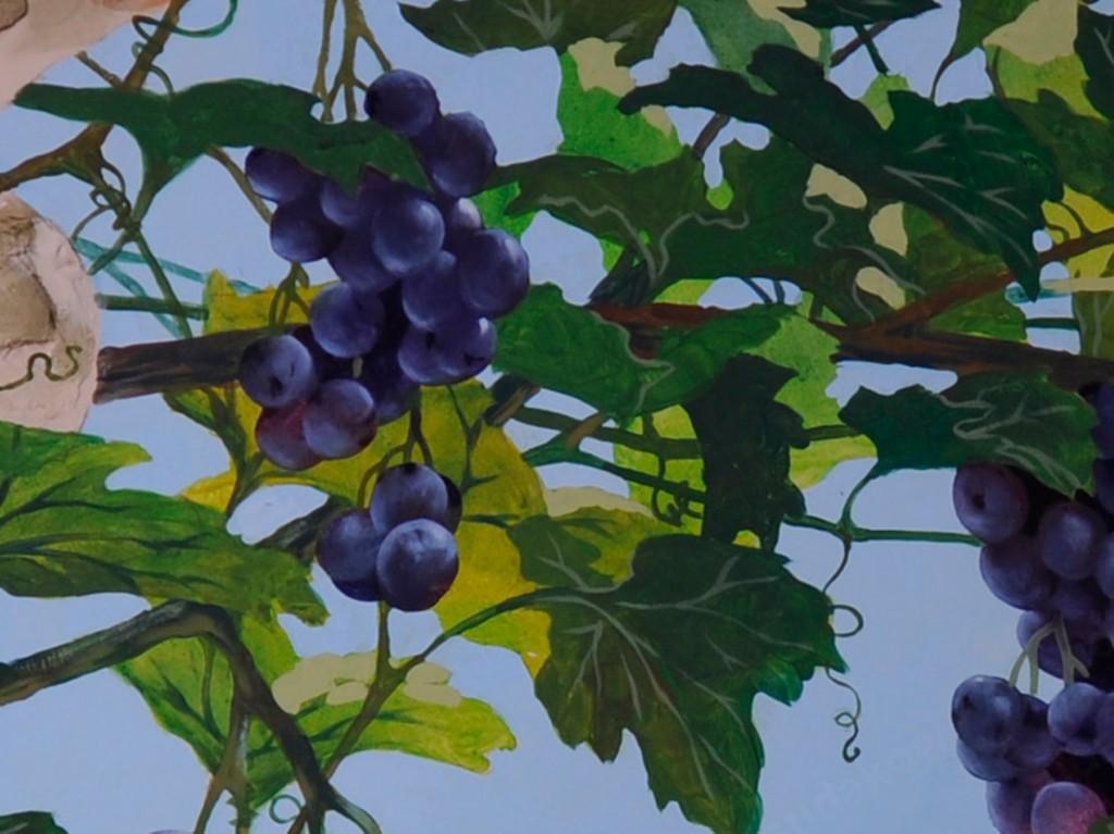 Роспись стен - виноград