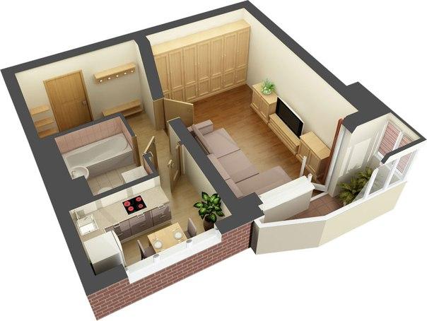 0 лучших идей: дизайн двухкомнатной квартиры на фото