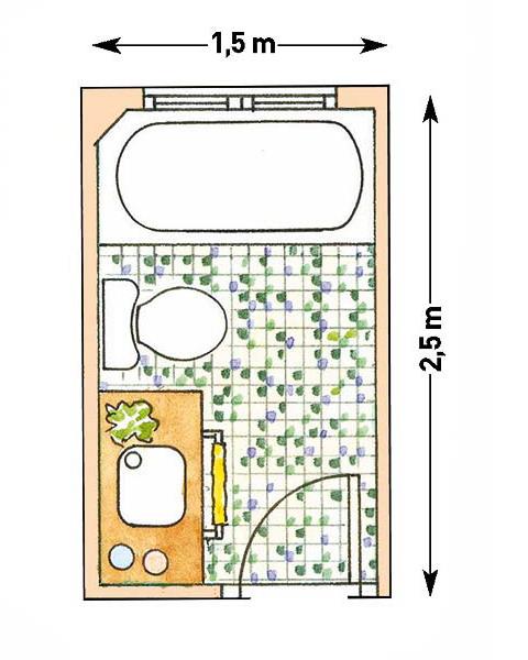 Схема совмещенного санузла