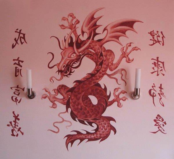 Росписи краской на стенах