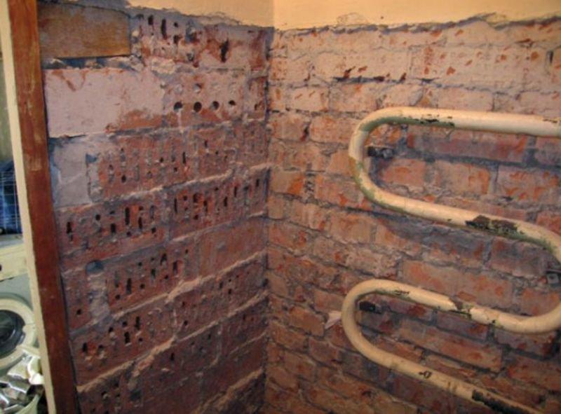 выравнивание стен в ванной