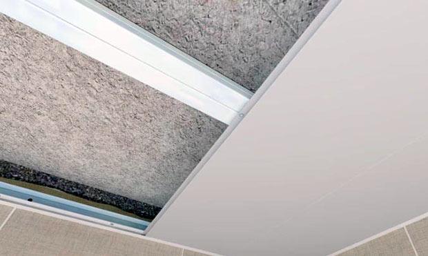 Крепление панелей на потолок