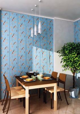 Отделка стен на кухне пластиковыми панелями