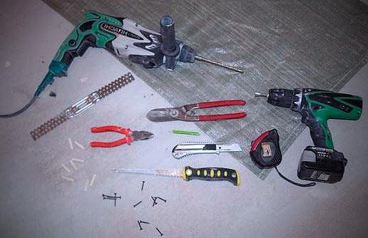 Инструменты для монтажа гипсокартона на потолок