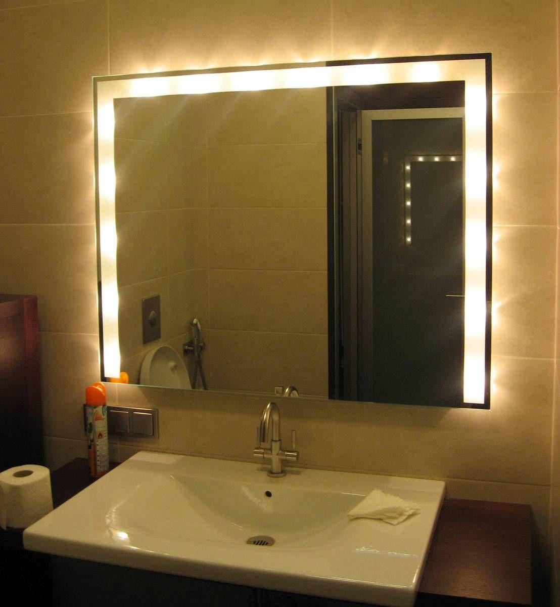зеркало со светильником в ванную