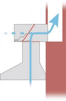 Схема самодельного антивозвратного короба с клапаном-хлопушкой