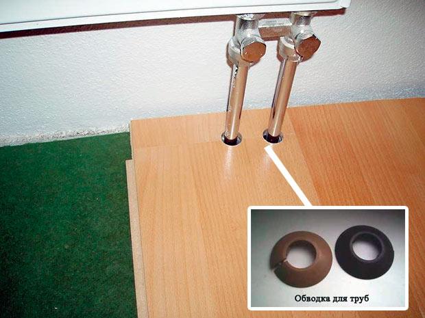обводки для труб под ламинат