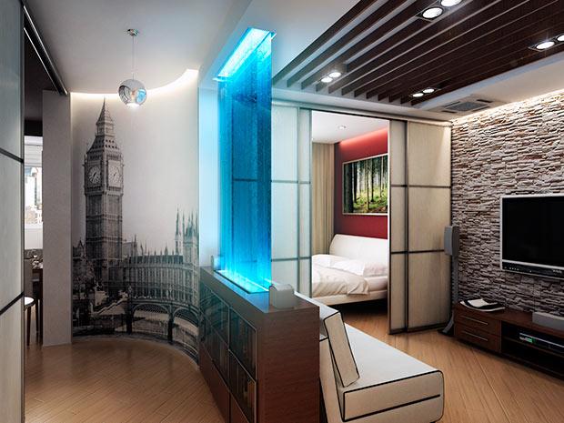 Планировка квартиры - дизайн однокомнатной