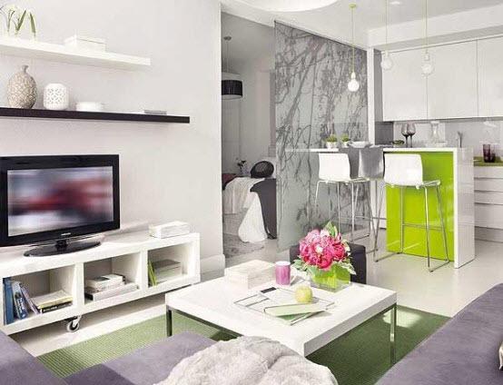 Светло-зеленая комната