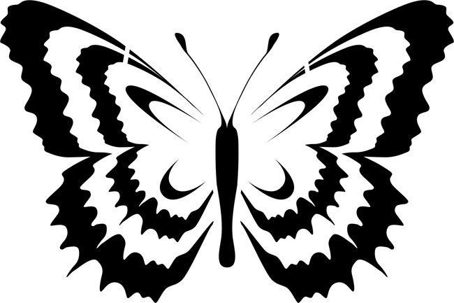 Бабочка трафареты своими руками