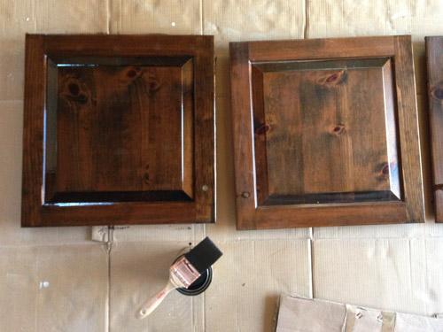 Покраска мебельных дверок