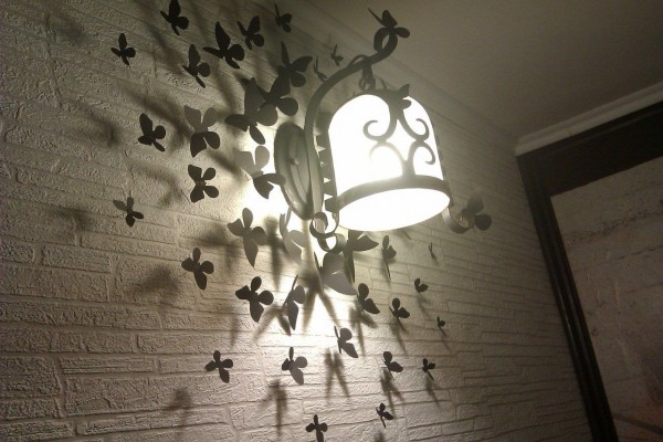декор светильника в коридоре