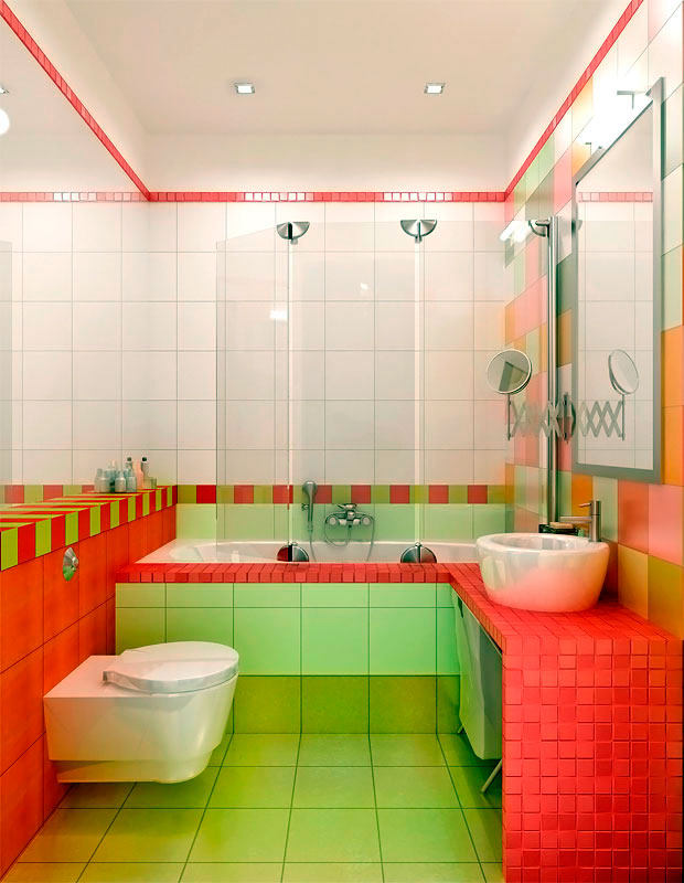 Дизайн плитки в ванной комнате в хрущевке