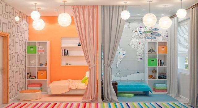 Дизайн детской комнаты фото для двух девочек