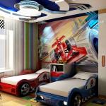 Если мальчикам нравятся автомобили, купите им гоночные кровати