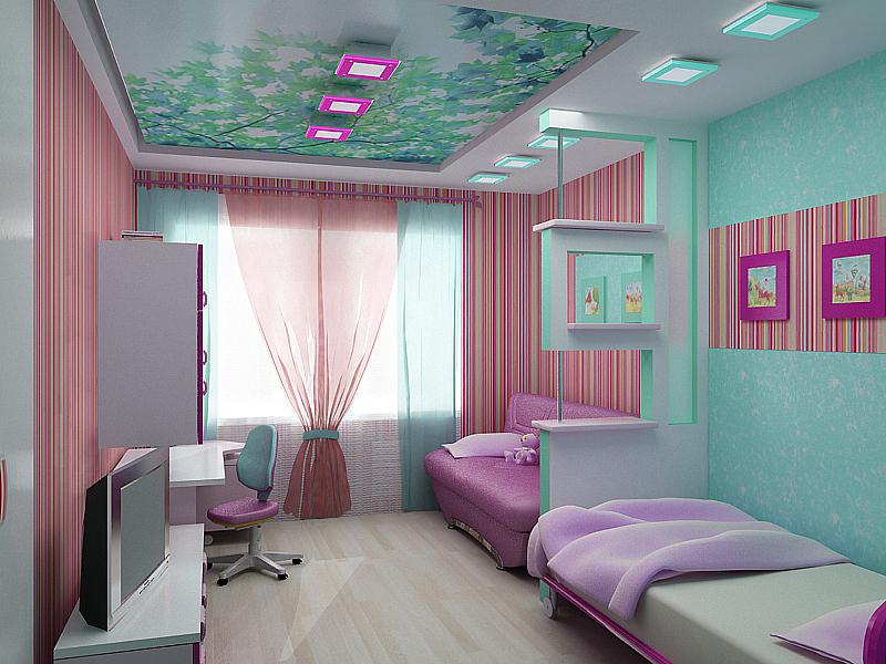 Дизайн для детской комнаты для двоих детей