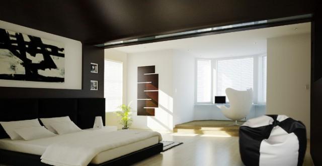 дизайн спальни в черном стиле