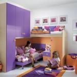 Фиолетовая мебель для детской