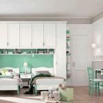 Белые стены и мебель для девочек