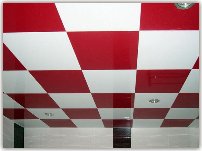на фото показан дизайн кассетного потолка