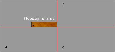 монтаж первой плитки