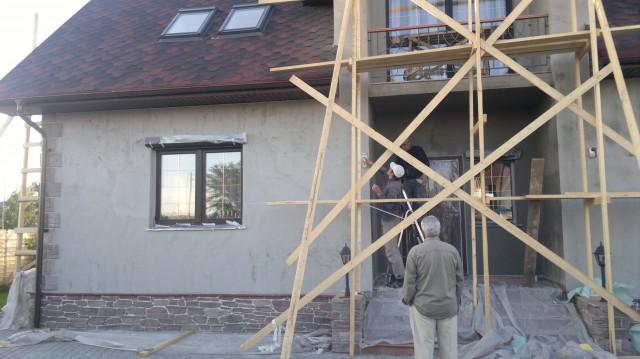 Цементная штукатурка фасадов
