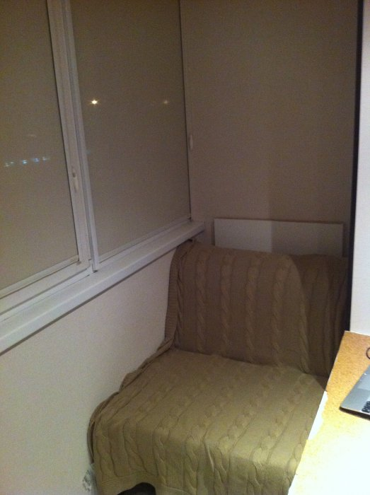 Кресло-кровать на лоджии