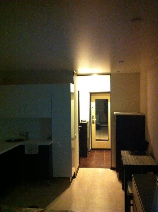 Вид на коридор из кухни