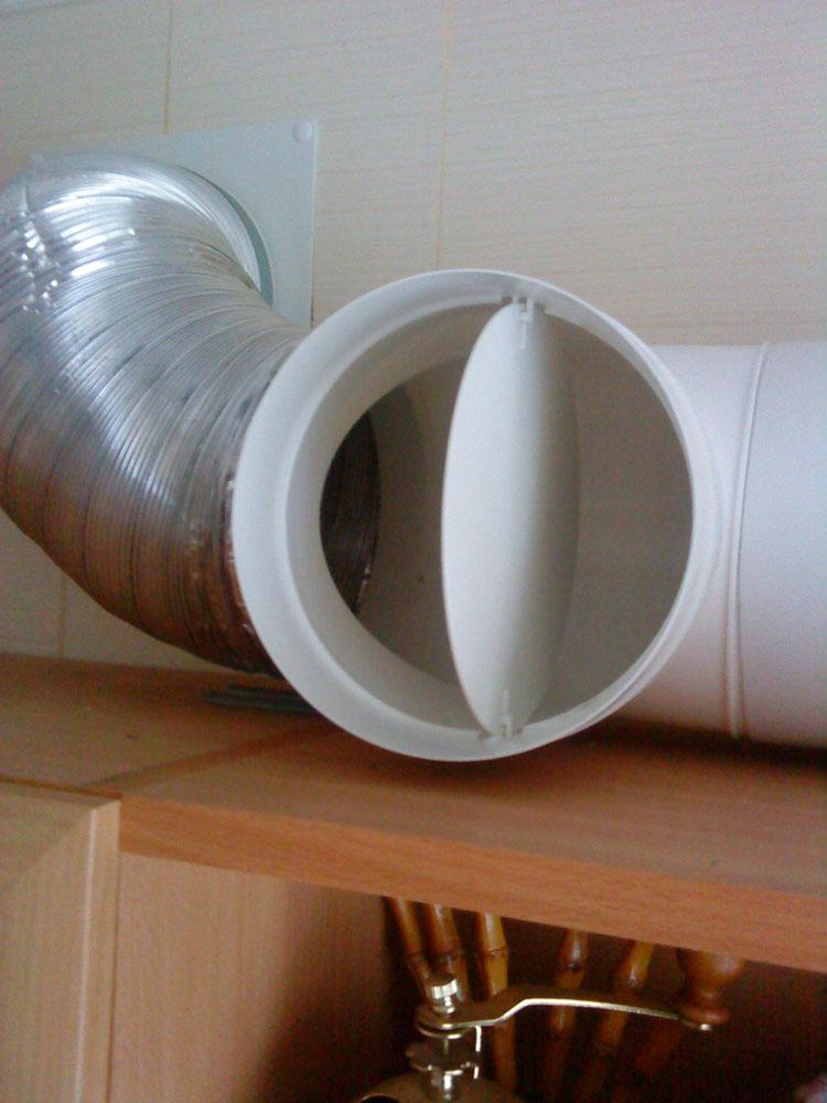 Решетка с обратным клапаном для вентиляции своими руками