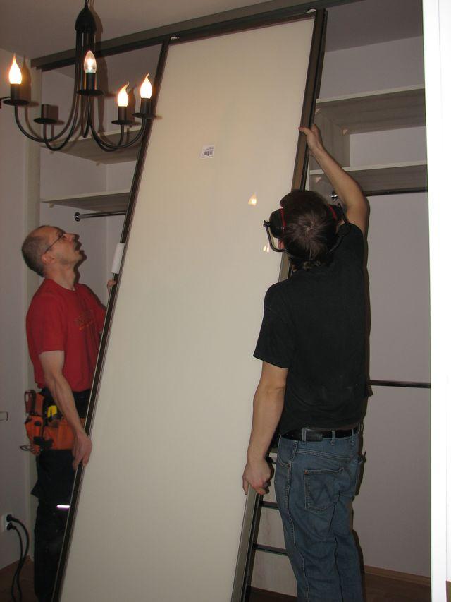 Шкаф купе своими руками сборка дверей