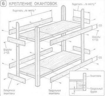 Кровать двухъярусная как сделать своими руками