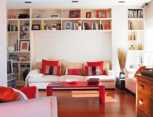 Хранение над диваном.