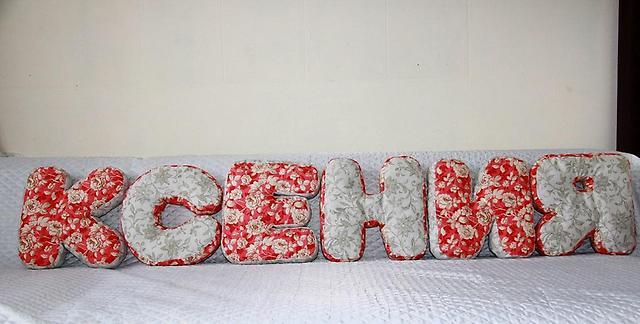 Выкройка подушки буквы ксюша