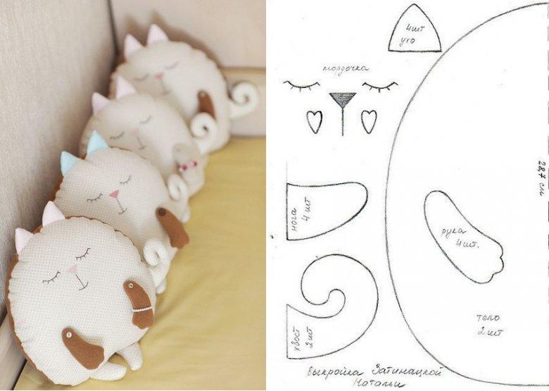 Подушки коты своими руками оригинальные выкройки