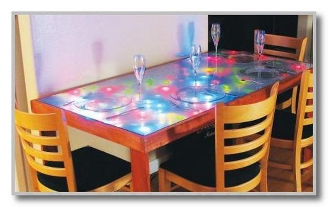 Украсить стол на кухне своими руками
