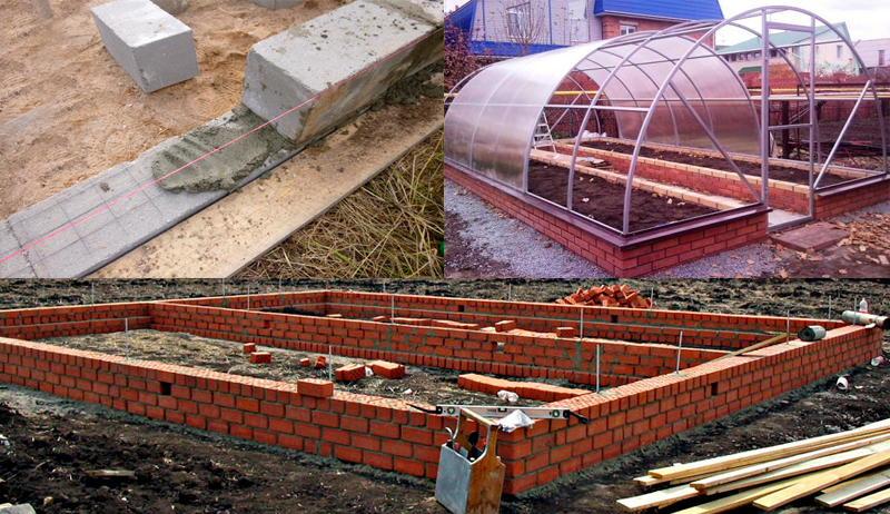Преимущества теплиц, построенных на фундаменте