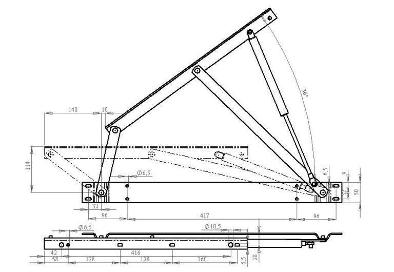Чертежи конструкции подъёмников