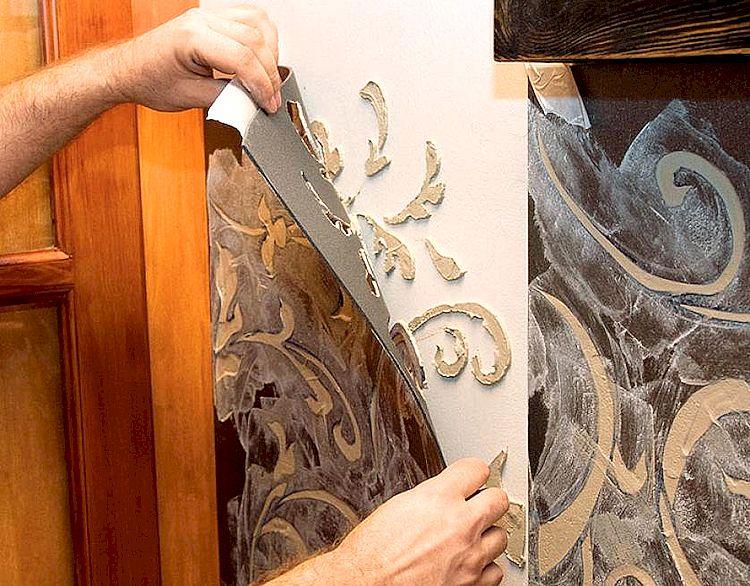 Трафареты для барельефов