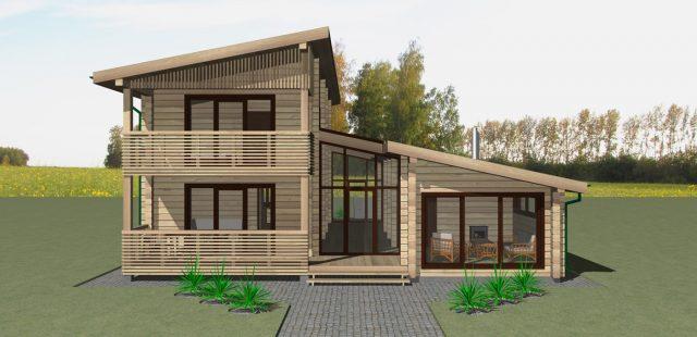 Двухэтажный дачный дом- topshouseru