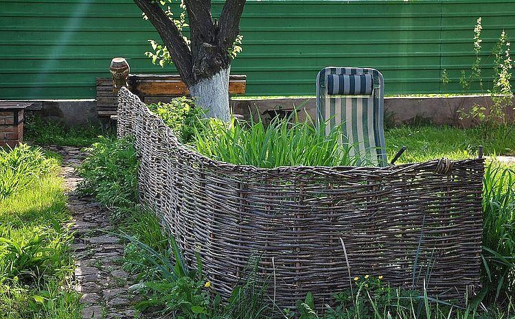 забор для дачи своими руками плетень